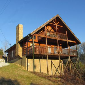 Photo for LUXURY Rated Cabin. Hassle Free Check In, Hot Tub, 2 Decks, Privacy and serenity