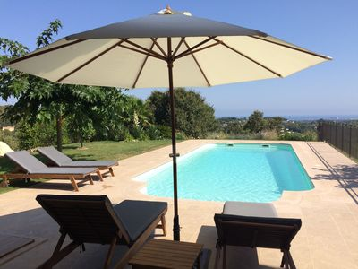 Photo for Magnificent panoramic sea view and pool, in nature