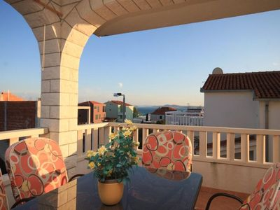 Photo for Three bedroom apartment with terrace and sea view Okrug Gornji (Čiovo)