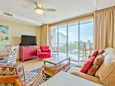 Photo for Beautiful Ocean and Pool Views, Covered Balcony, Beachfront Resort with Three Pools and Restaurant