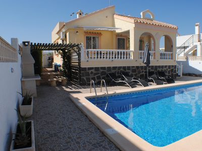 Photo for A Lovely Detached Villa With 2 Bedrooms, Large Private Pool and Roof Terrace