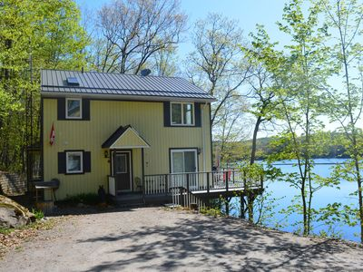 Photo for Beautiful, quiet and well equipped cottage for a family lakeside vacation