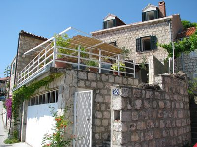 Photo for Cozy Holiday  House  Doris in Mlini with Terrace, Hot tub, BBQ and sea view