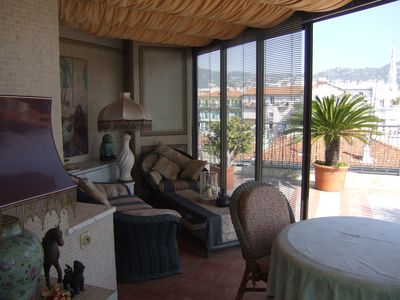 Photo for Nice apartment with a beautiful view to the mountains around Nice
