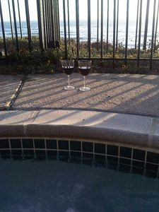 jacuzzi with ocean view