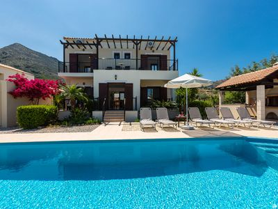 Photo for Villa Pyramus with private pool, wonderful outdoor spaces, near beaches