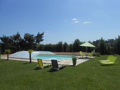 Photo for Comfortable cottage, 10mx5m swimming pool, wifi, near Toulouse and Montauban