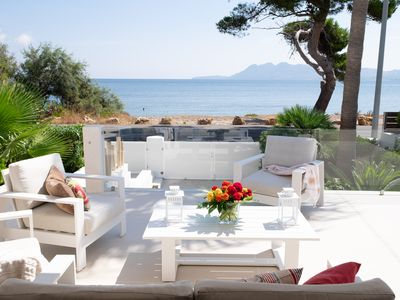 Photo for AMFORA --- HIGH QUALITY VILLA, WITH NEW POOL, IN FIRST LINE OF BEACH