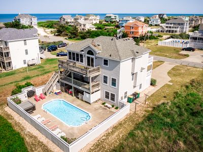 Photo for Oceans 10 | 249 ft from the beach | Private Pool, Hot Tub | Corolla