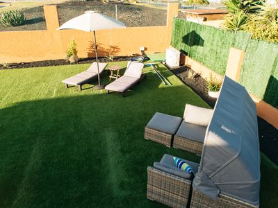 Photo for EcoVilla White Suite, Climatized Pool, BBQ, free Wifi, Beach