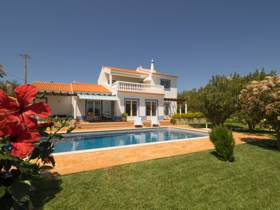 Photo for Exclusive holiday villa with sea views and heated pool