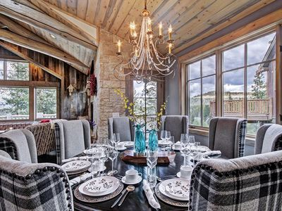 Photo for Luxe Mountain Villa for Families & Foodies!  Wifi, Sauna, Hot Tub, Theatre!