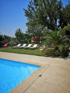 Photo for spacious air-conditioned gite near ORANGE with swimming pool, jacuzzi and mature garden