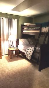 2nd bedroom; twin and full bunks