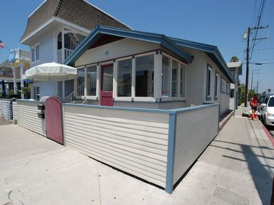 Photo for Charming, Classic Newport Beach Bungalow - Steps to Beach! Patio & Sun Porch
