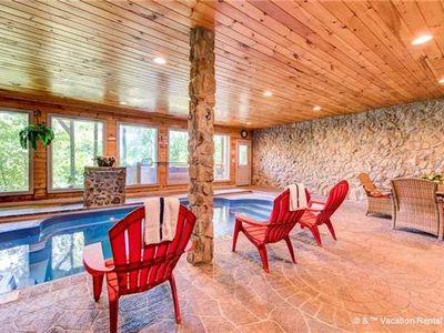 Photo for PRIVATE INDOOR POOL! Low rates, 1 mile from dwntwn Pigeon Forge. Save 10% in August!