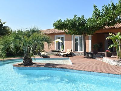 Photo for Luxury house with fantastic terrace and very private pool near Nîmes