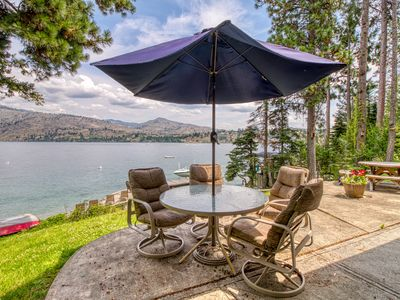 Photo for NEW LISTING! Two rustic lakefront cabins w/ a great deck, patio & dock
