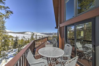 Stunning mountain views await at this gorgeous Breckenridge chalet.