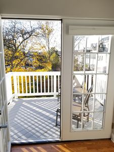 French doors off sunroom
