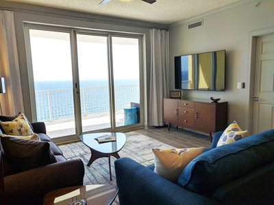 Photo for BRAND NEW PENTHOUSE CONDO!  HUGE GULF-VIEW BALCONY!  RIGHT ON THE BEACH!