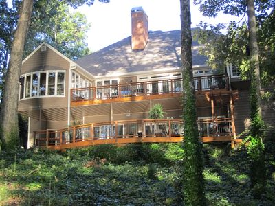 Photo for Waterfront 5 bedrooms on Lake Lanier / double slip Private Dock #lakelanier.