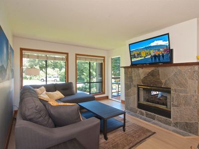 Photo for Large Ski in Ski out condo, Family friendly, mountain setting, roof top hot tub