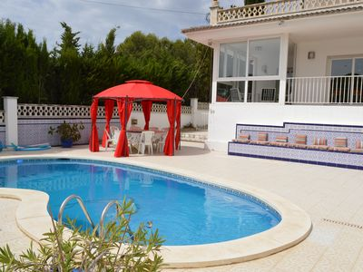 Photo for Superb villa, 5 bedrooms, private pool and secure, enclosed parking, WIFI