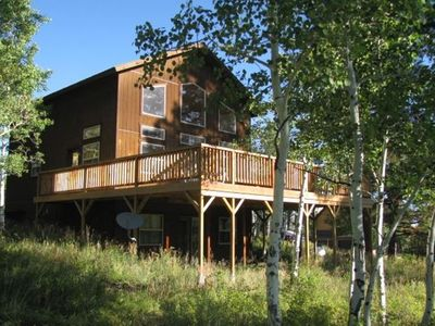 Photo for 4 Bedroom, 3 Bath 2100 Sq. Ft Home with a Private Hot Tub and Large Deck