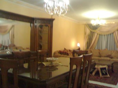 Photo for lovely large flat in rehab city with garden view