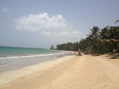 More than 3 miles of a secluded beach