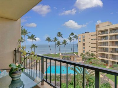 Photo for Gorgeous Ocean views from this one bedroom condo at the Sugar Beach Resort. #406