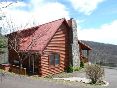 Photo for Spacious 3br/3ba cabin with great views,hot tub, game room, close to downtown W.Jefferson
