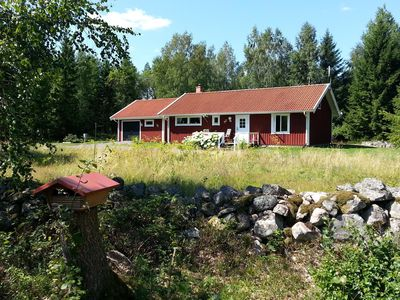 Photo for Cozy Sweden house surrounded by meadows, forests and lakes of pure relaxation!