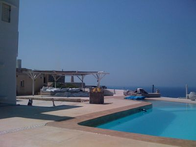 Photo for Mykonos Luxury Villa with 5 bedrooms, pool and magnificent sea view and sunsets