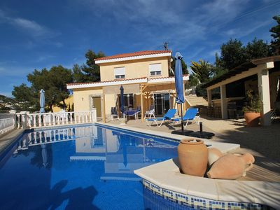 Photo for comfortable holiday home with private pool, internet, panoramic view, barbecue