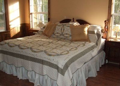 Cove Bedroom (King sized bed.  Great comfort.)
