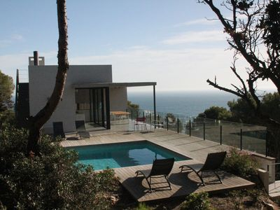 Photo for villa and sea view, quiet, private pool, 5 mins walk from beach