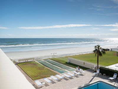 Photo for Lovely, updated 2 bedroom 2 bath ocean view condo located on the car free beach.  HA-307