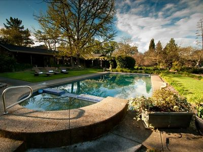 Photo for Spacious Sonoma Gated Retreat on 5+ Acres with Pool and Spa