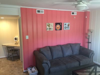 Photo for Welcome to the Wonderfully Comfortable, Caboose at CVille Cottage