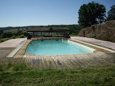 Photo for Quiet converted barn with secure pool and stunning nature views
