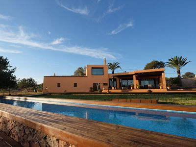 Photo for House House-Villa with pool, overlooking Ibiza, fields with olive and private forest