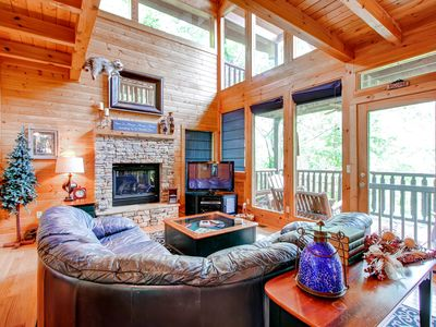 Photo for Secluded & Wooded Wears Valley Cabin!