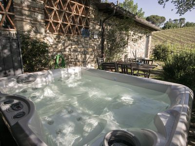 Photo for Country house with Jacuzzi on the Chianti vineyards, near Florence