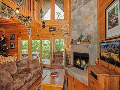 Photo for Bear Country Cabin, 2 Bedrooms, Sleeps 6, Private, Foosball, Hot Tub