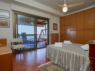 Photo for Sea view apartment with direct access just 15 meters from the sea Palermo Cefalù