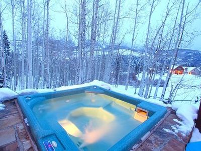 Private 6 Person Hot Tub - Huge Wrapping deck - Views of San Sophia Ridge