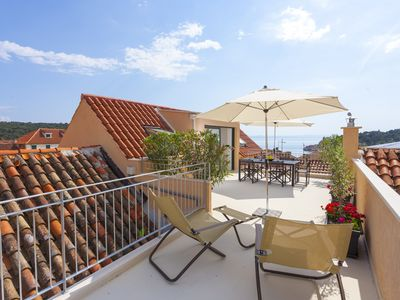 Photo for The Square - luxury apartment with sea view terrace in the heart of the city