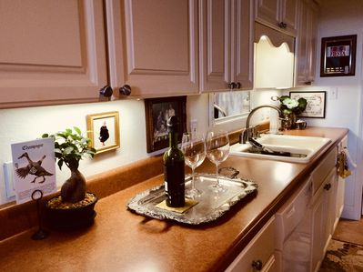 The kitchen is fully equipped for your enjoyment